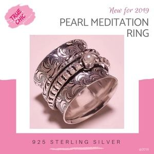 Jewelry - Meditation Spinner with Pearl Ring
